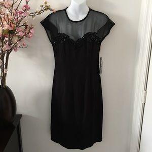 Vintage Jessica Howard Black Cocktail Dress Size 8